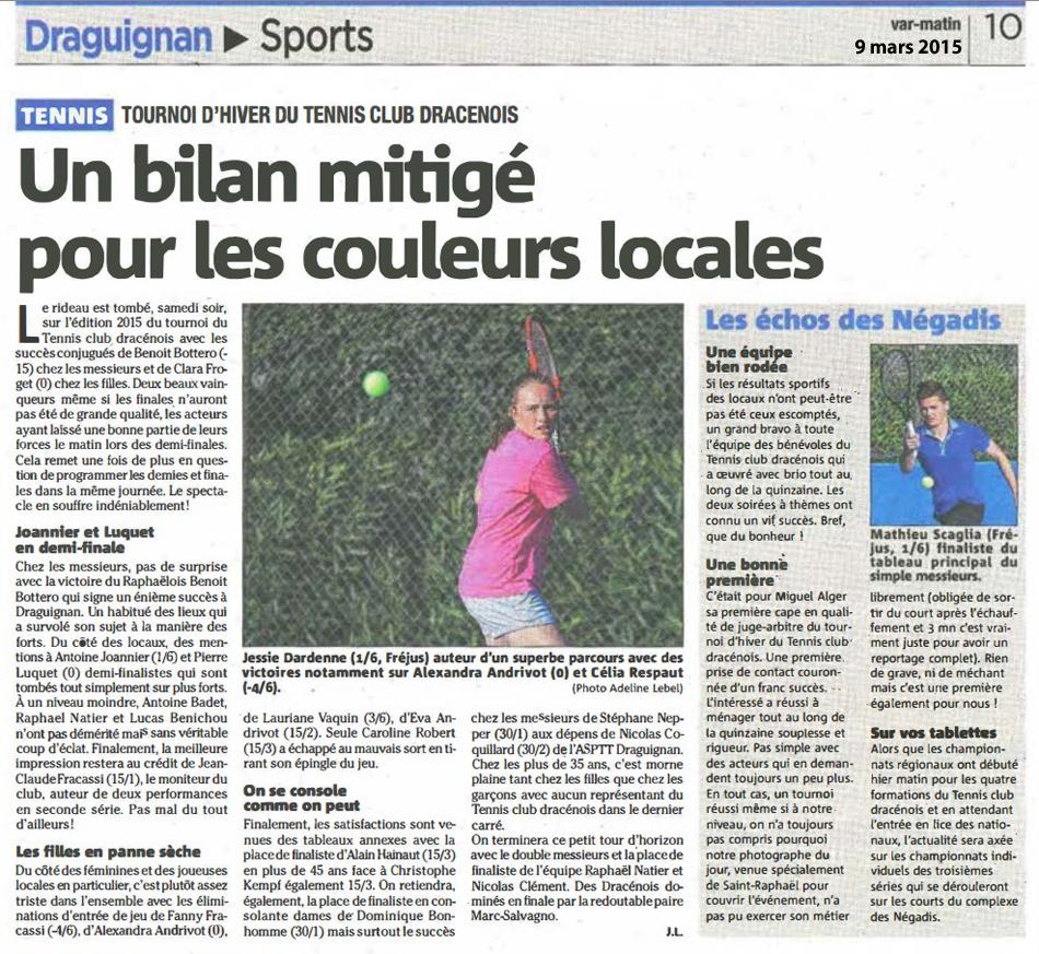 article édition DRAGUIGNAN 9mars2015